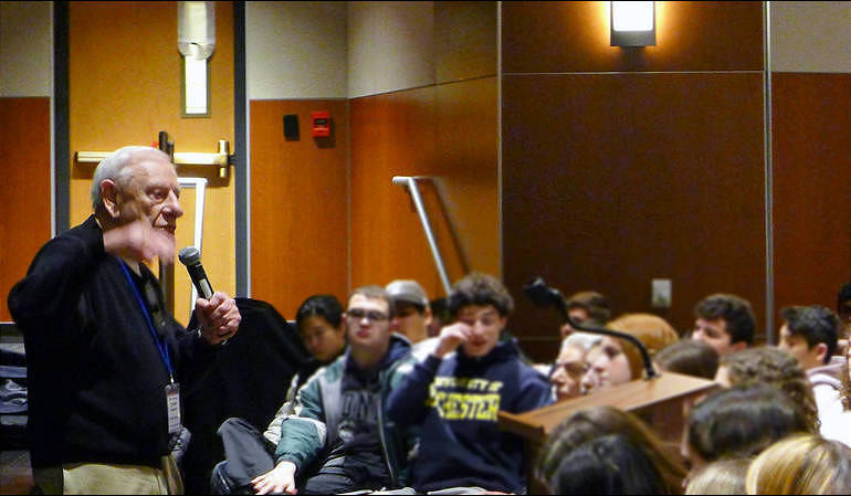 Fred Heyman talks about the Holocaust at Heritage Middle School in Livingston (Livingston Public Schools via TAPintoLivingston).png