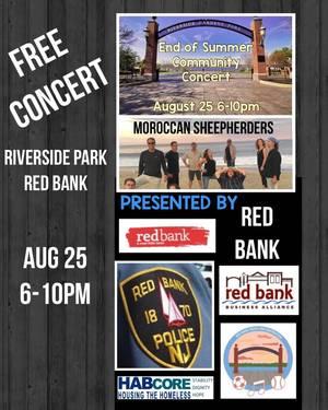 Red Bank End of Summer Free Concert in Riverside Gardens Park