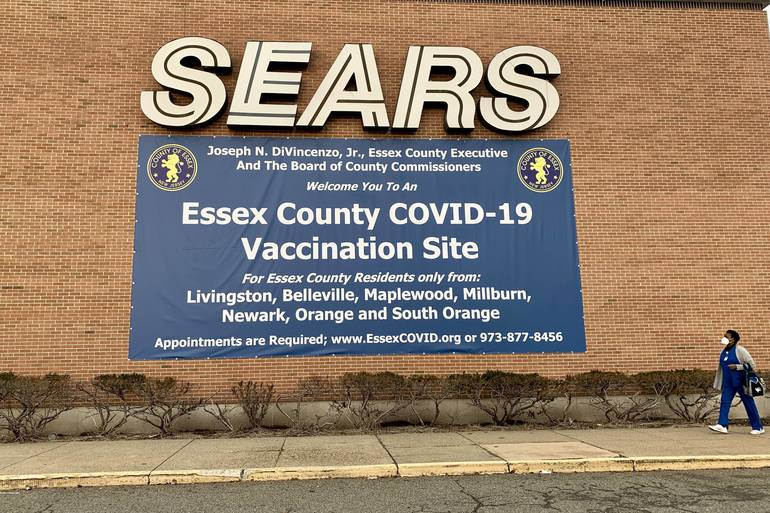 The former Sears store at the Livingston Mall is now an Essex County COVID-19 Vaccination Site