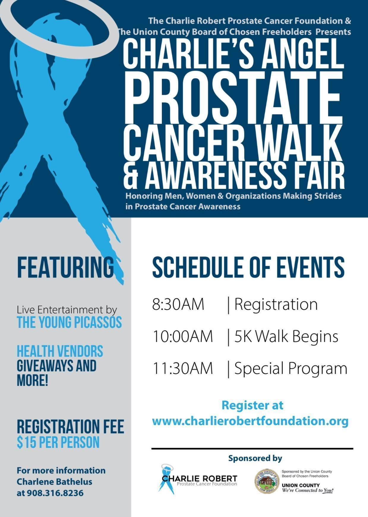 1st Annual Charlie's Angel Prostate Cancer Walk to Be held September 29
