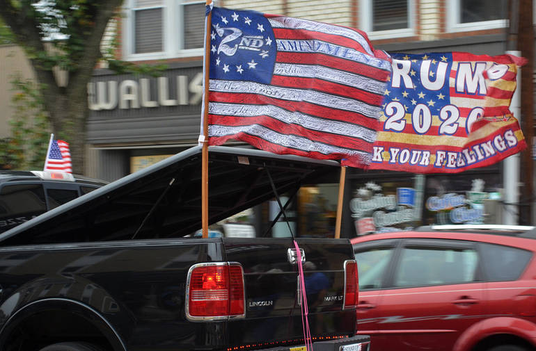 Trump Truck Parade in Scotch Plains and Fanwood draws both cheers and jeers.