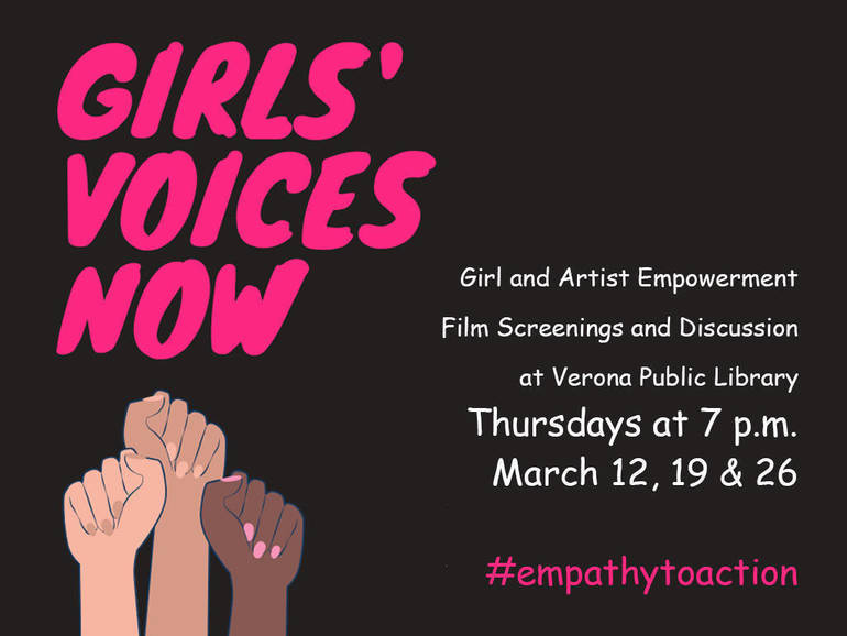 Women's History Month Film Screenings at Verona Public Library - Women's Voices Now Presents Short Films for Discussion and #EmpathyToAction
