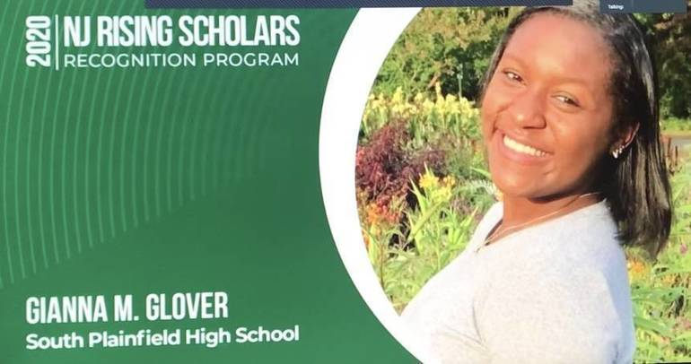 South Plainfield High School Senior Gianna Glover Receives Amistad Commission's Rising Scholars Recognition Award