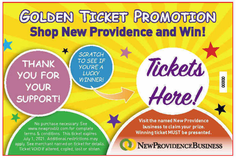 New Providence Shoppers Invited to Find Golden Tickets