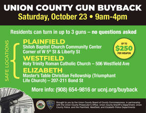 Bring Unwanted Guns to Union County's Buy-back event, Oct 23