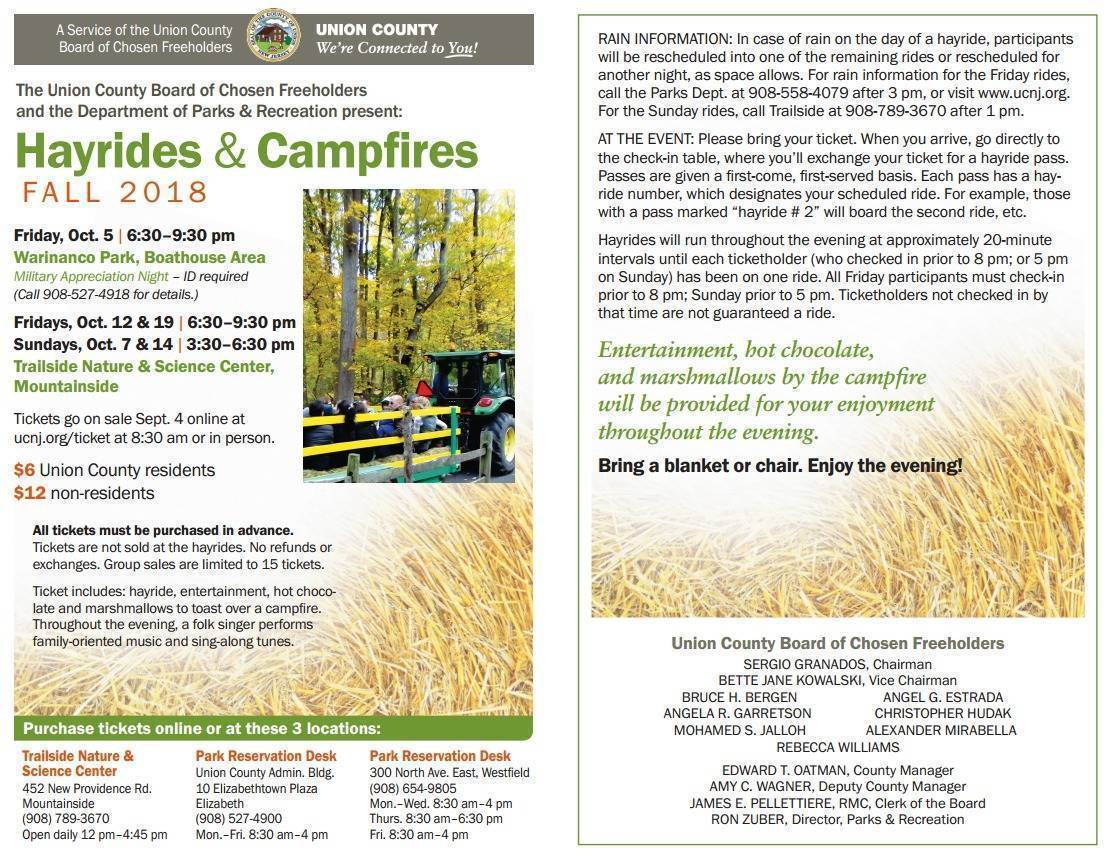 Hayrides and Campfires Tickets on Sale Now Both Online and in Person