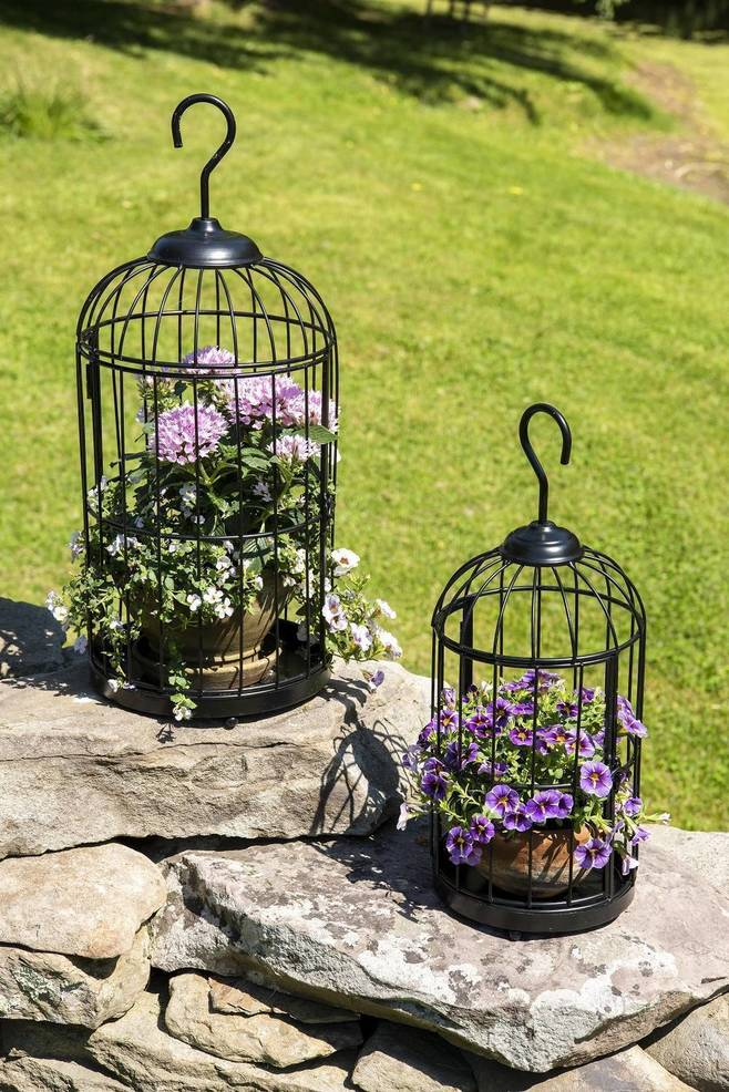 Hanging Birdcage Planters