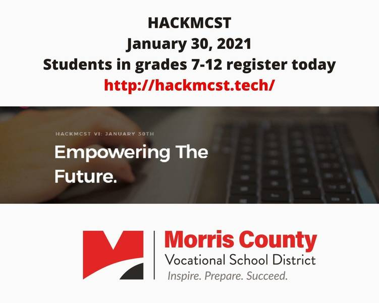 Morris County School of Technology Hosts Virtual Hackathon  for Middle and High School Students