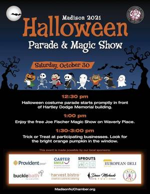 Madison Announces Return of Halloween Parade and Magic Show; Oct. 30