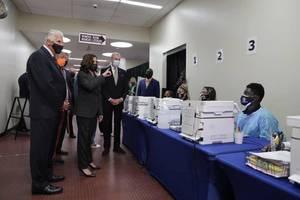VP Kamala Harris Urges Americans to Get COVID-19 Vaccine During Newark Visit