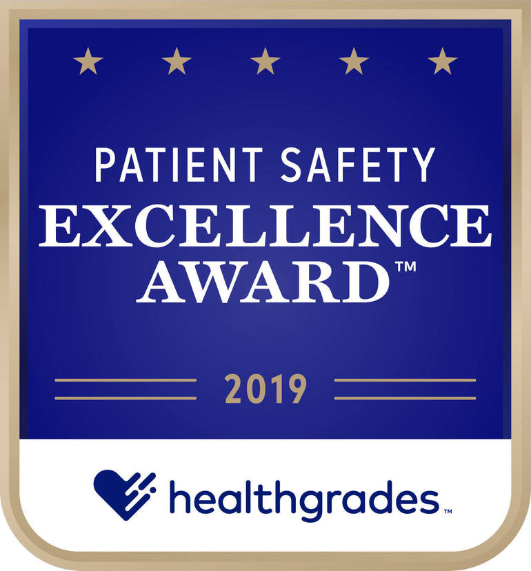 Healthgrades Patient Safety Award 2019