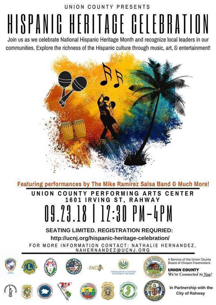 First Union County Hispanic Heritage Celebration to be held Sunday, Sept. 23