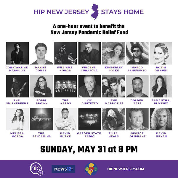 Hip New Jersey: You are invited to NJ's Star-Studded one hour telethon tonight at 8PM to Benefit New Jersey Pandemic Relief Fund