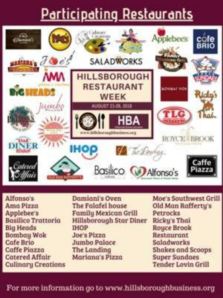 Experience the Tastes of Hillsborough: Restaurant Week Aug. 21-26