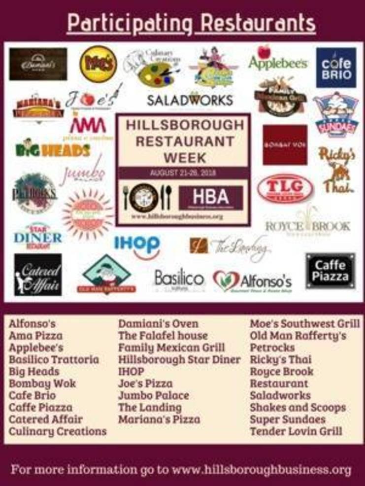 Experience the Tastes of Hillsborough: Restaurant Week Aug. 21-26