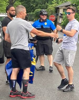 Hand Off: Somerville PD Passes Olympic Torch to Hillsborough PD