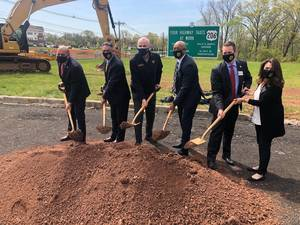 Murphy Joins Hillsborough Officials To Dig In Dirt Along Route 206