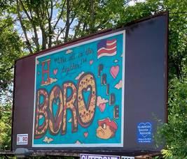 Route 206 Billboard Showcases Winning Design by Hillsborough Student