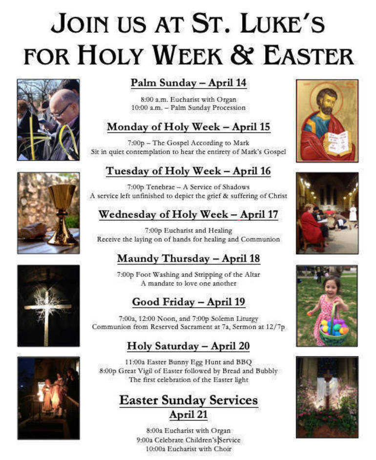 Holy Week 2019 at St. Luke's Montclair