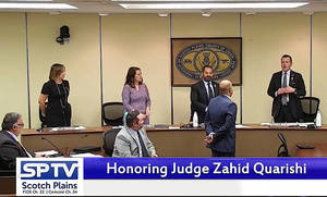 Judge Zahid Quraishi was honored by the Scotch Plains Council on Tuesday.