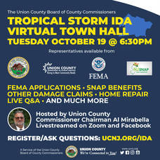 Learn about Tropical Storm Ida Recovery Resources in Union County Oct. 19