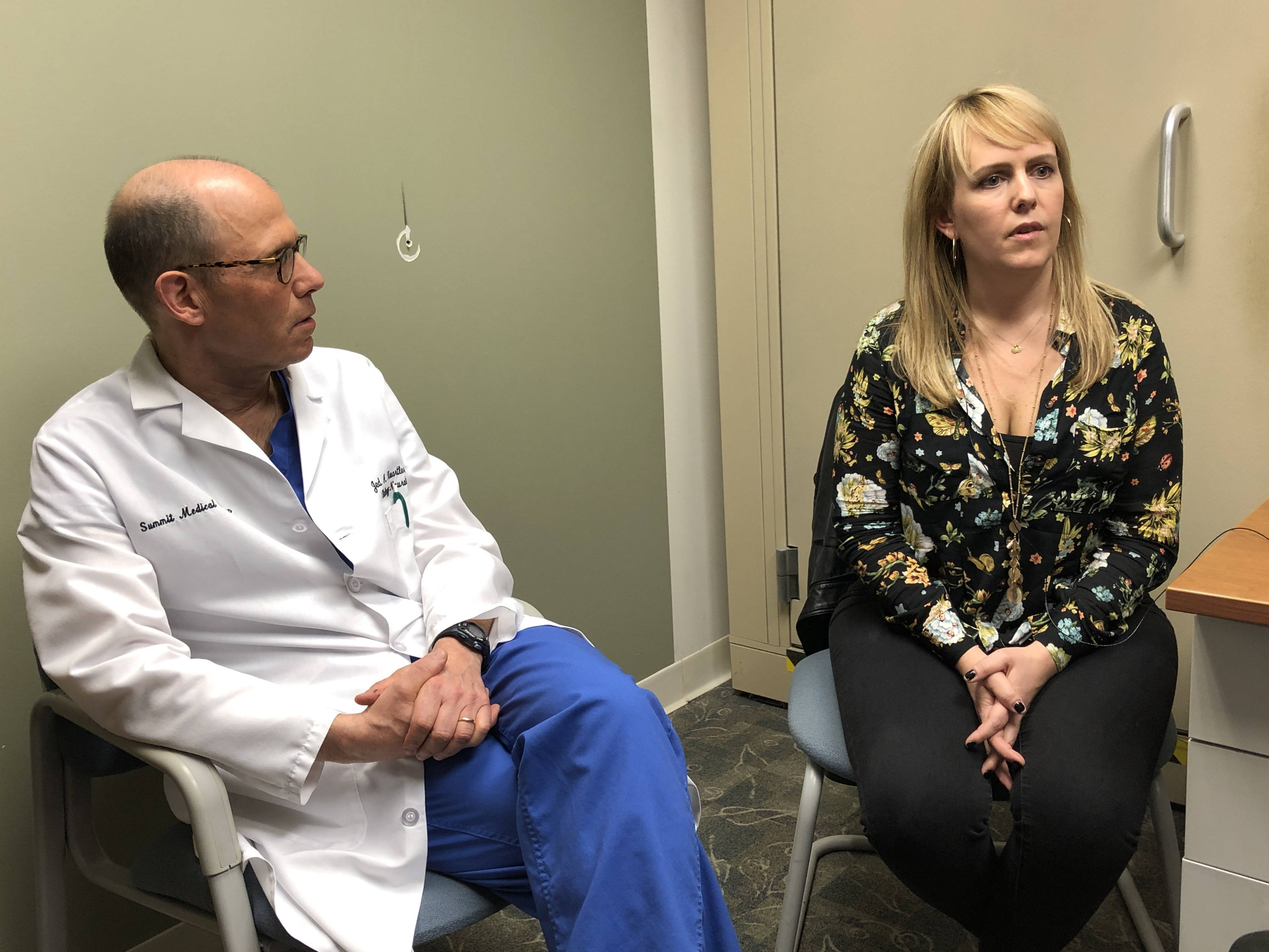 Dr. Jed Kwartler, Director of Otology/Neurotology, Summit Medical Group, and Joan Rekemeir of Fanwood