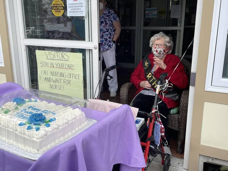 Friends Sing Happy 102 Birthday to Sparta's Flossie Meyer
