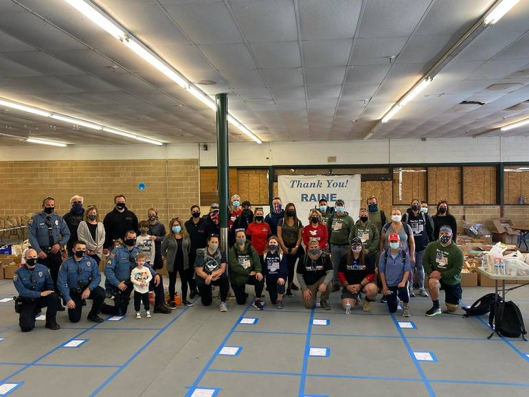 Thanksgiving Ruck Food Drive Brings Necessities To RAINE Just in Time for Holidays