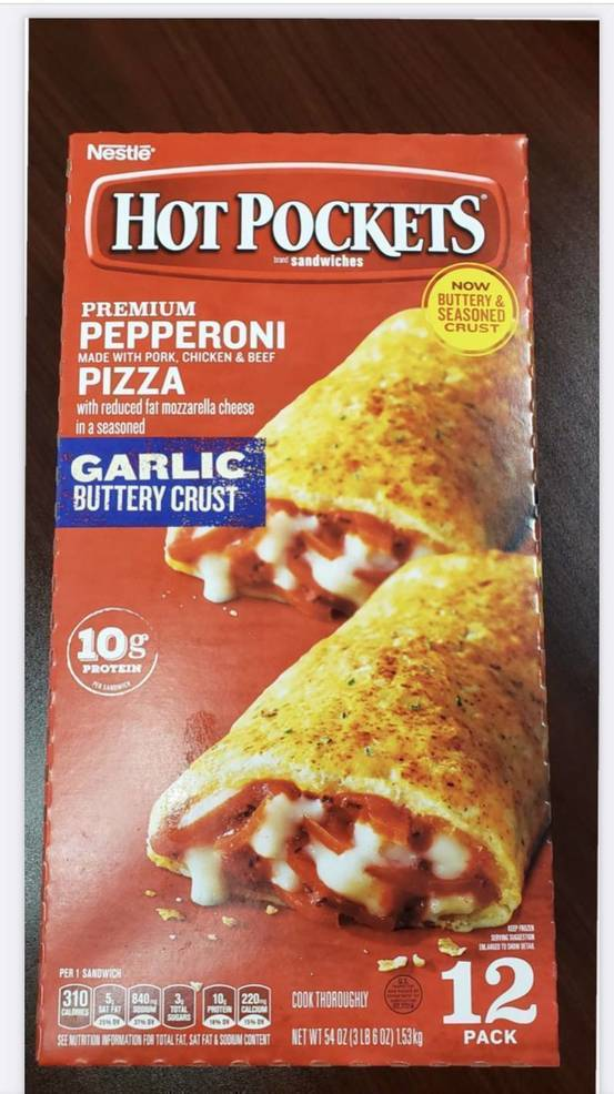 Glass and Hard Plastic in Nestle Pepperoni Hot Pockets Leads to Recall