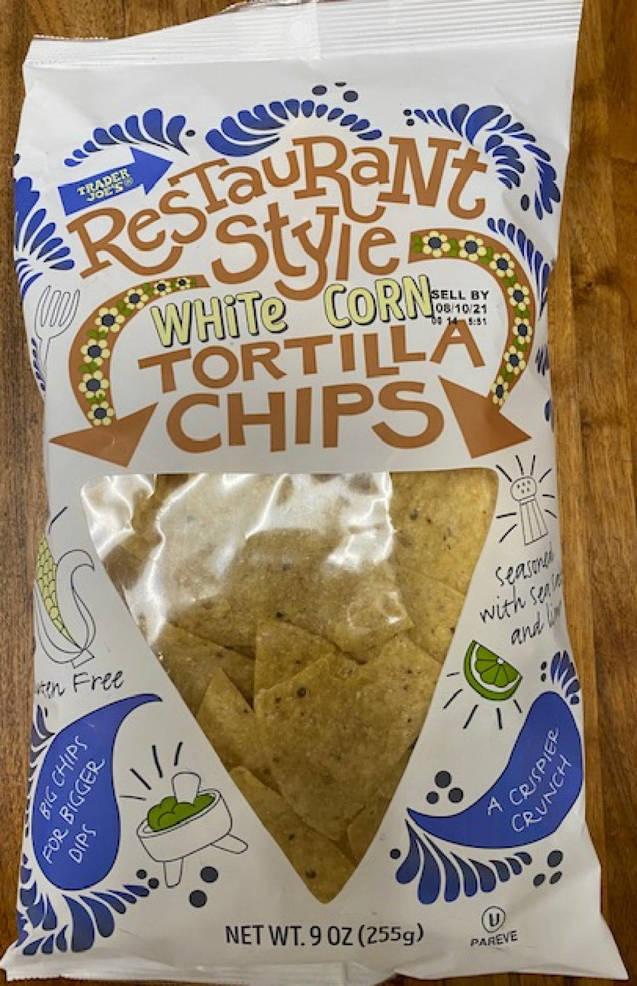 Recalled: Trader Joe's Restaurant Style White Corn Tortilla Chips