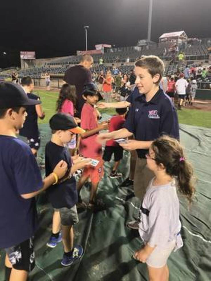 Piscataway Student Goes Behind the Scenes as 'Kid CEO' of the Somerset Patriots