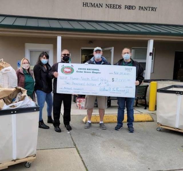 UNICO Donates to Montclair's Human Needs Food Pantry