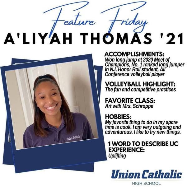 Linden Resident, A'Liyah Thomas, Excels in Two Sports at Union Catholic