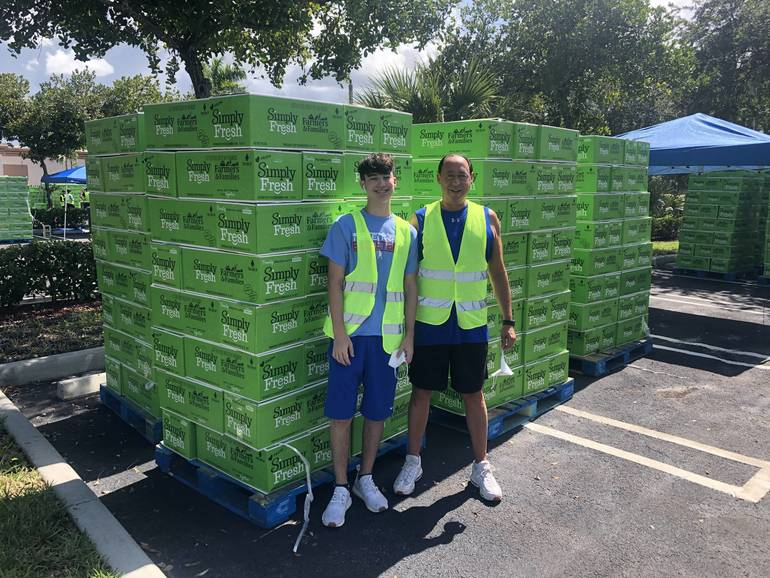Parkland Family Feels Blessed as They Serve Others at Local Chabad