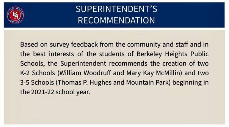 Berkeley Heights BOE OKs Full Day Kindergarten and Redistricting in 2021