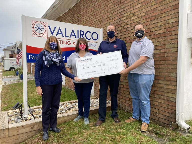 Rise Up Chorus Receives $500 Donation From Valairco Cares