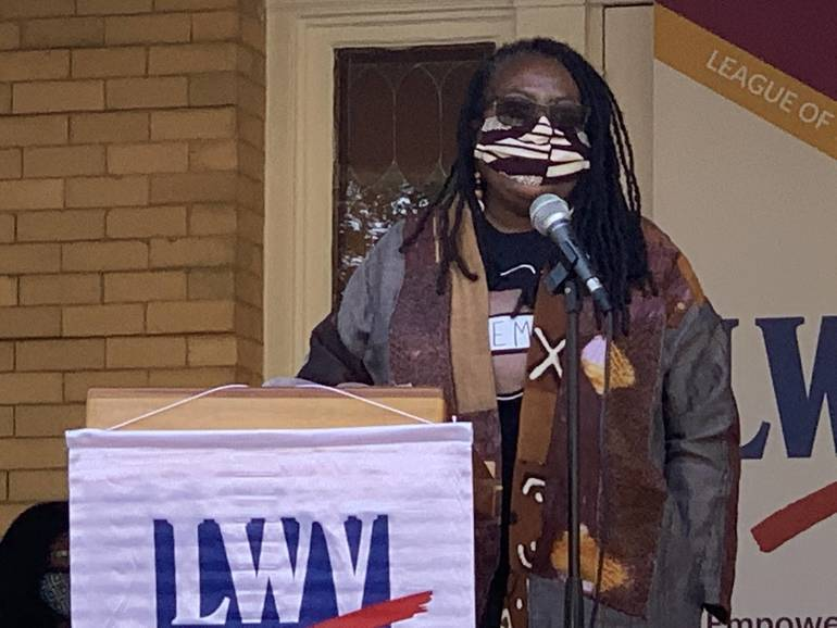 """Advocacy Groups Speak at League of Women Voters """"RBG's Legacy Rally"""" in Plainfield (Video)"""