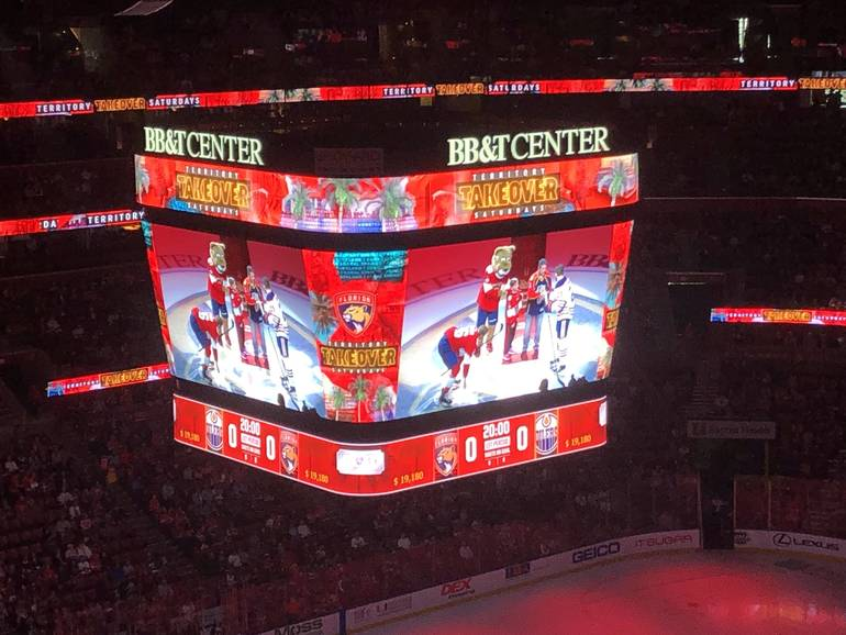 Coral Springs and Parkland Honored at Panthers Hockey Game