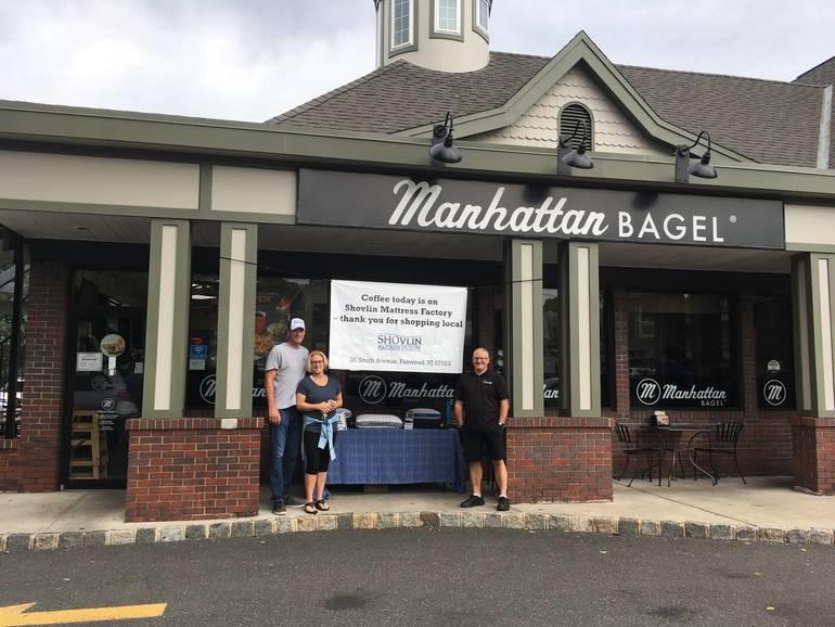 Shovlin Mattress Factory Buys Everyone's Coffee at Westfield Manhattan Bagel Saturday