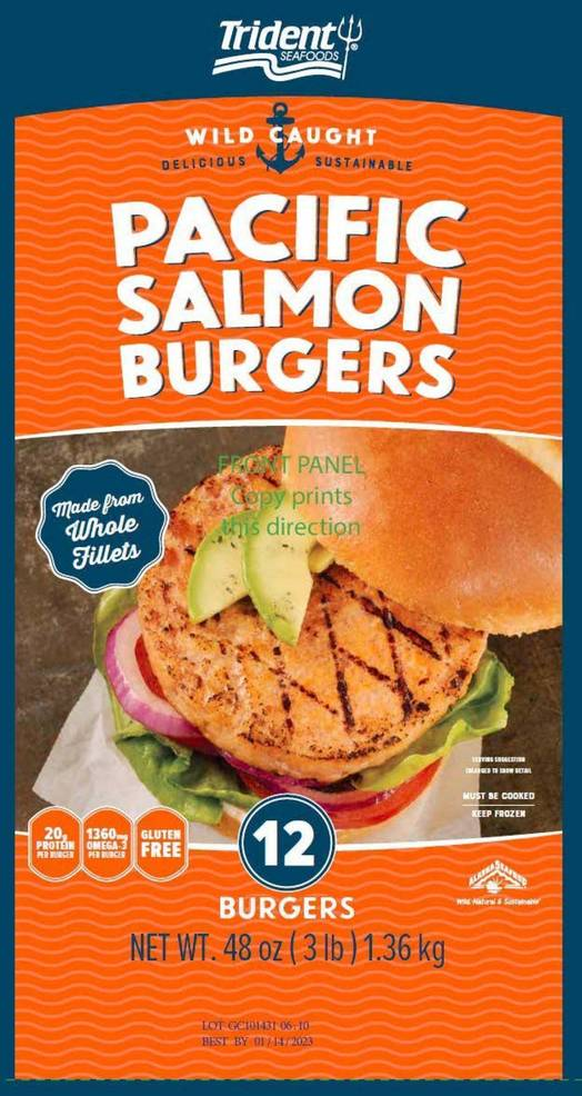 Recall Alert: Metal Pieces Found in Trident Seafoods Pacific Salmon Burgers