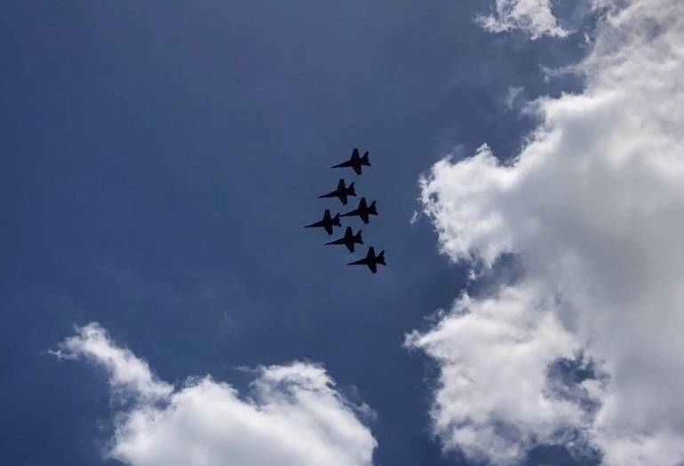 Blue Angels Brought Cheers in Flight Over Parkland and Coral Springs