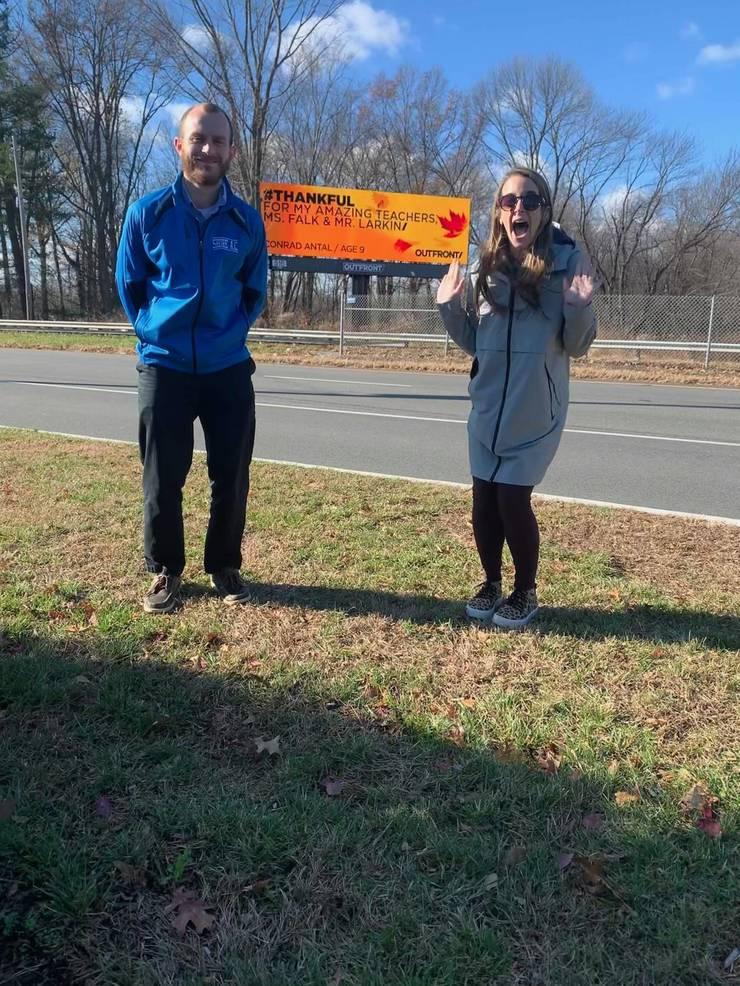 NJ Third Grader Posts #Thankful Billboard on Route 46 to Thank His Teachers