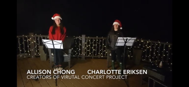 """2 Morristown Students Create Virtual Holiday Music Concert To Spread """"Joy and Happiness"""""""