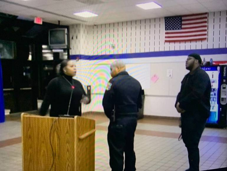 Officer Called on Advocate Speaking in Montclair