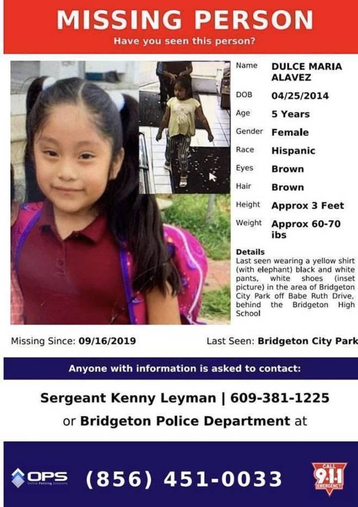 Amber Alert: Missing 5-year Old Girl From South Jersey | TAPinto