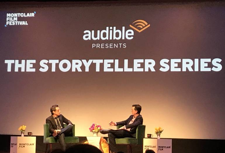 Ben Stiller and Stephen Colbert at Storyteller Series