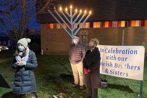 Summit Synagogues Join Faith Lutheran for 14th Annual Menorah Lighting