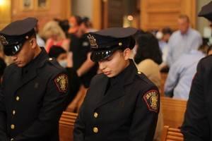 Praying Police Officer
