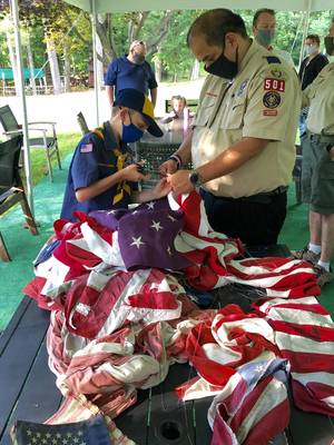 Flag Day:  Scouts and Elks Retire the Flag with Honor and Ceremony