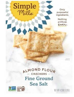 Allergy Alert; Simple Mills Issues Recall on Sea Salt Almond Flour Crackers